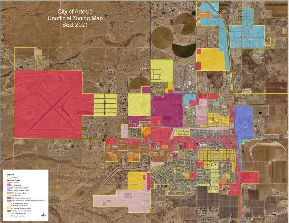 Artesia City Zoning Map Opens in new window