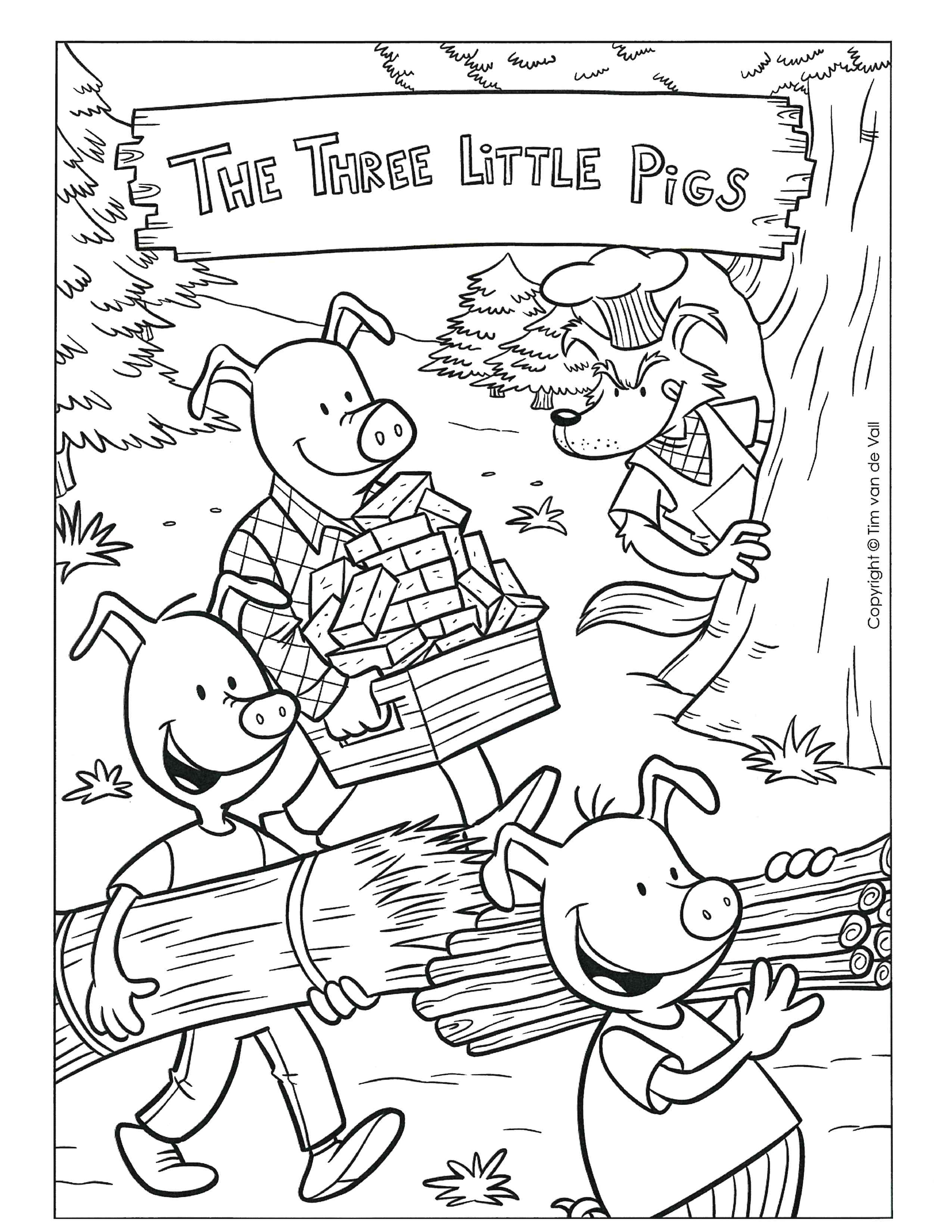 Week 4 Three Little Pigs color sheet