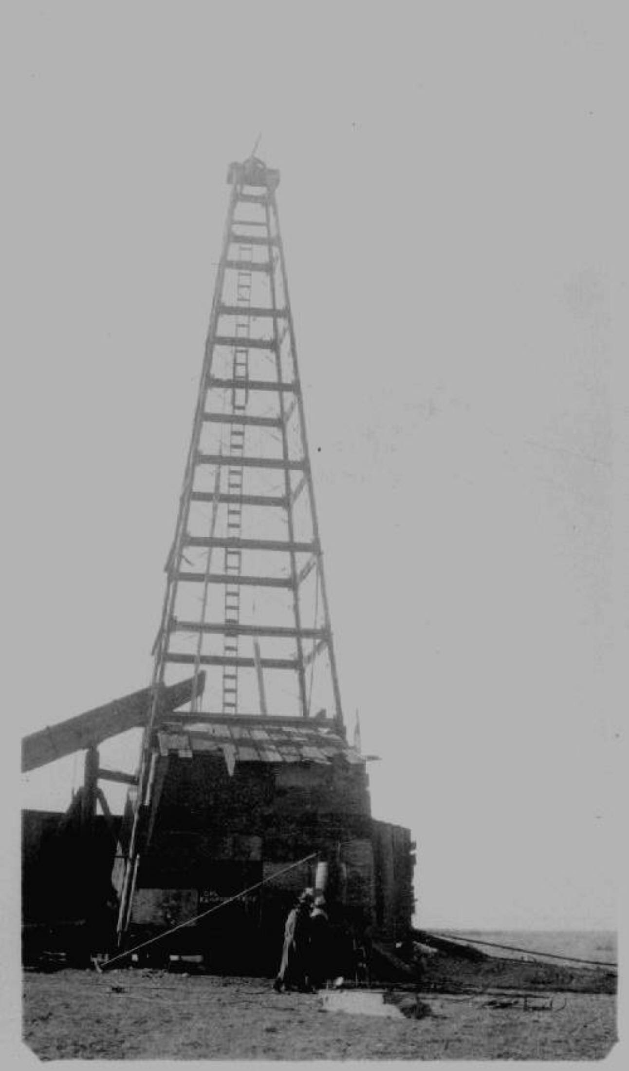 early drilling rig ca 1920s
